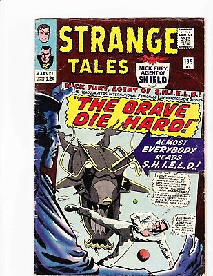 STRANGE TALES #139 Dec 1965 THE BRAVE DIE HARD Condition 2.0 GD DITKO ART