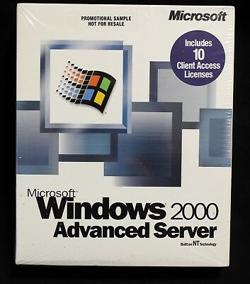 NEW Microsoft Windows 2000 Advanced Server 10 client access licenses SEALED