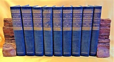 The Collected Works of Abraham Lincoln, Roy Basler Editor 8 Vol 1953 PLUS Index
