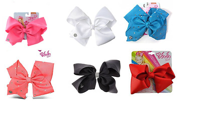 Set of  Jojo Siwa Signature Bow Rhinestones Dance Cheer Leader Hair Accessory