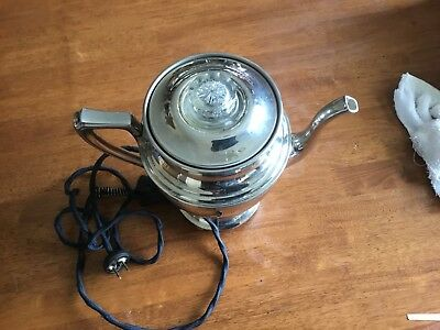 Antique Coffee Pot Percolator Landers Frary & Clark, Art Deco,