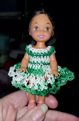 Hand crocheted Mattel Kelly Doll Clothes black