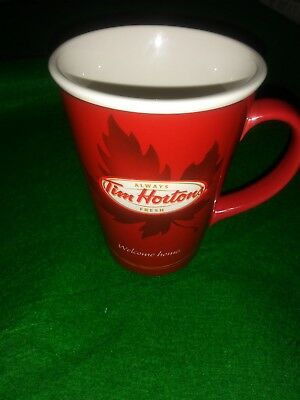 TIM HORTON'S Limited Edition #11 Welcome Home Maple Leaf Red Coffee Mug Cup 2011