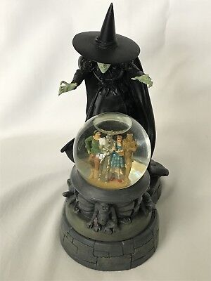 Wizard Of Oz The Wicked Witch Of The West & Black Magic Ball Franklin Mint