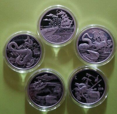 Silver (5) x 1 oz SILVERBUG ISLAND PROOFS - 5 Proofs in the Series