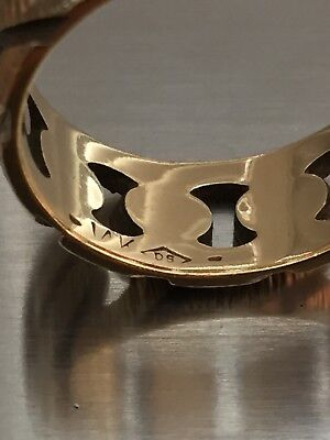 Signed 14K Solid Gold Ring Wear Scrap Band