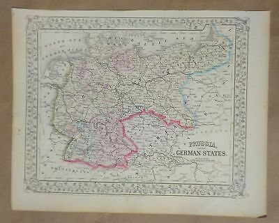 Prussia And The German States, S. Augustus Mitchell Map, 1867, P 80
