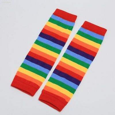 Baby Toddler Kids Girl Winter Leg Warmer Cotton Sunny Rainbow Stripes Socks 2755