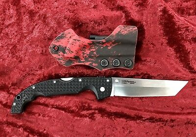 Cold Steel Xl Voyger Tanto Knife Cts-Bd1 With Custom Undertaker Sheath