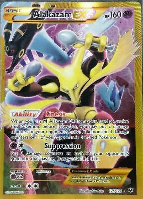 Alakazam EX Full Art Secret Rare NM Fates Collide 125/124 Pokemon TCG