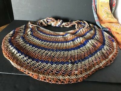 Old Papua New Guinea Billum Bag large & Colourful …beautiful collection / accent