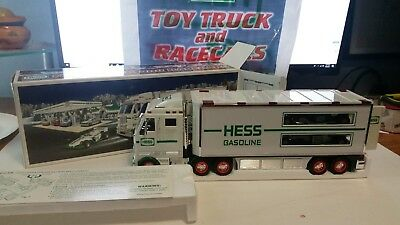 2003 HESS Toy Truck and Race Cars MIB + BAG collectible mint new in box