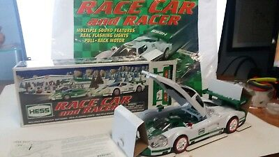 CRAZY SALE 2009 HESS Toy Truck Race Car and Racer MIB + BAG mint new in box