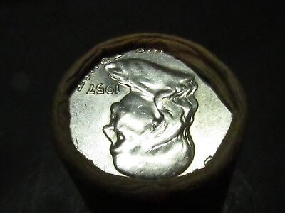 1957/1957 END 1 ROLL Unsearched (20) Silver FRANKLIN Half Dollars $10.00  #WR379