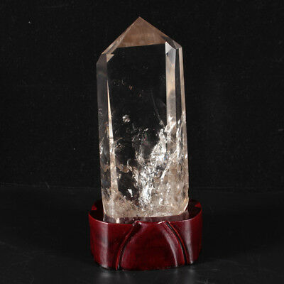 685g NATURAL QUARTZ CRYSTAL POINT HEALING + Stand 9891