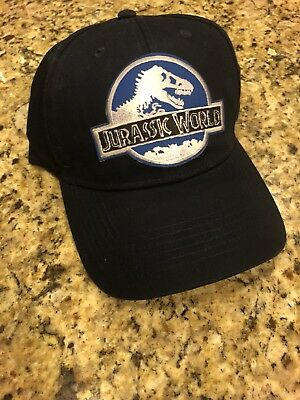 Jurassic World Park Navy Hat Embroidered Patch Cap INGEN Dinosaur Movie Ranger