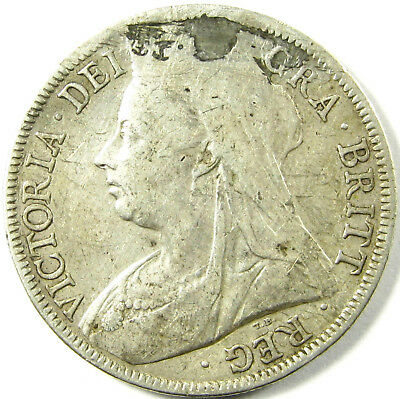 1898  Great Britain Half Crown  Km# 782   Silver  A Very Nice Coin Repaired Hole