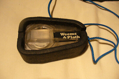 Weems & Plath Handheld Compass and Case
