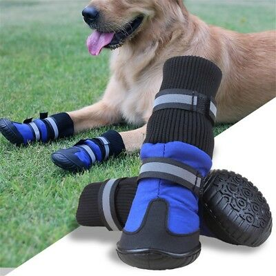 4pcs/set Waterproof Shoes Warm Pet's Boots For Middle/Large Dog US CA