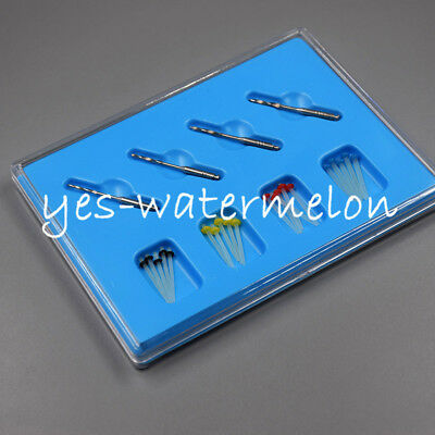 Dental Fiber Post Pins Glass Material Straight Endo Thread Single Refilled Size