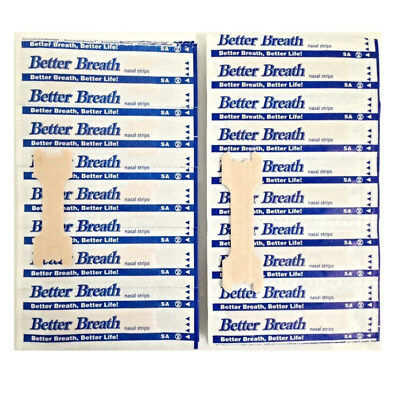 50-200 Pcs Better Breath Nasal Strips Med/Large Tan Right Aid To Stop Snoring Bl