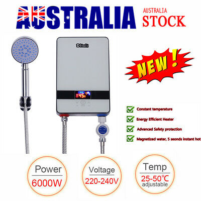 AU Electric Tankless Instant Hot Water Heater System Portable Shower Heating Set
