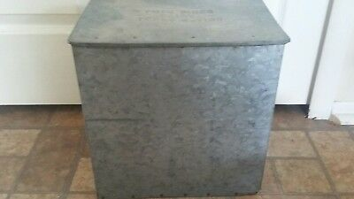 Vtg Twin Pines Dairy Galvanized Porch Crate Texas 4_1100