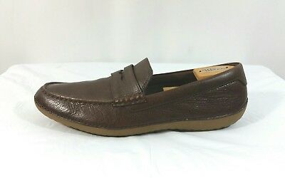 46e803323bc Cole Haan Men s Motogrand Brown Pebbled Leather Penny Loafer Shoes Size 11M