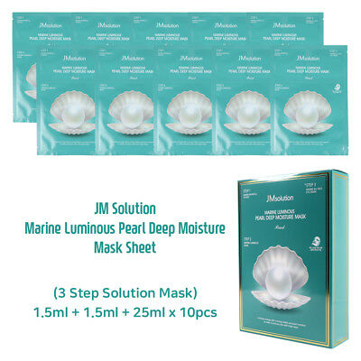 JM Solution Marine Luminous Pearl Deep Moisture Mask Sheet KOREA Cosmetics