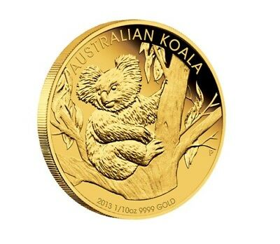 2013 Australian Koala 1/10oz .9999 Gold Bullion Coin - The Perth Mint