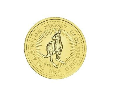 1999 The Australian Nugget Series 1/4oz .9999 Gold Bullion Coin - The Perth Mint