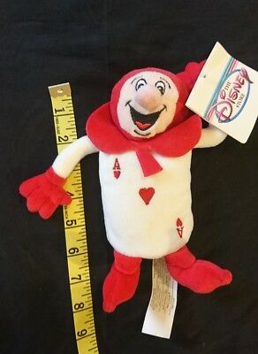 Rare Alice in Wonderland plush Beanie playing card red Ace Hearts