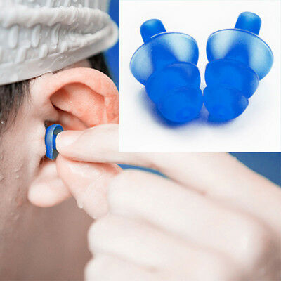 1 x Silicone Ear Plugs Hearing Protection Anti Noise Earplugs for Study Sleep