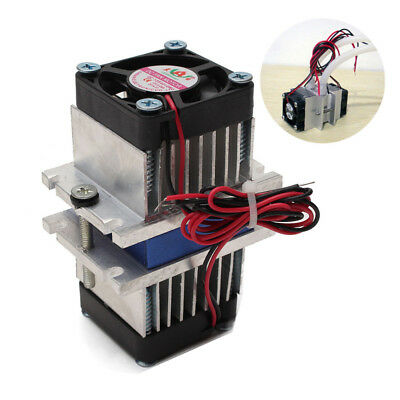 1pc DIY kit Thermoelectric Peltier Cooler Refrigeration Cooling System w/ fan US