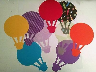 "Hot air balloon Scrapbook  XL 7 1/2"" x 10 1/2 die cut DIY 3 pieces"
