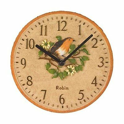 Robin Wall Clock Outside In Weather Resistant Polyresin Home Garden Decoration