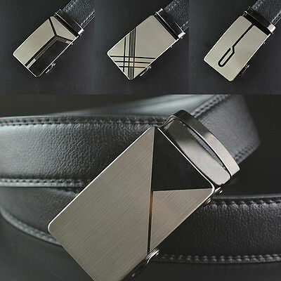 Fashion Mens Automatic Buckle Waistband Belts Waist Strap PUFaux Leather Belt: