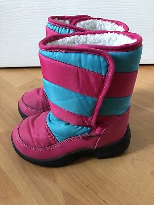 Mountain Warehouse Girls Snow Boots Shoes Pink Kids Children Infant Size 8