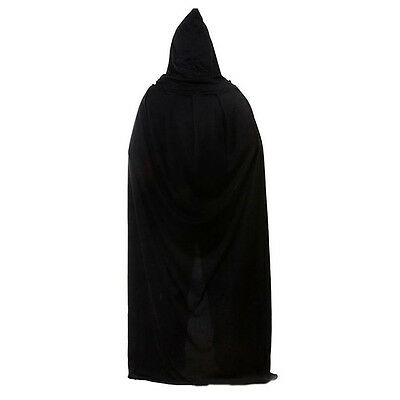 Gothic Hooded Cloak Wicca Robe Medieval-Witchcraft Cape Fancy Dress Halloween~~
