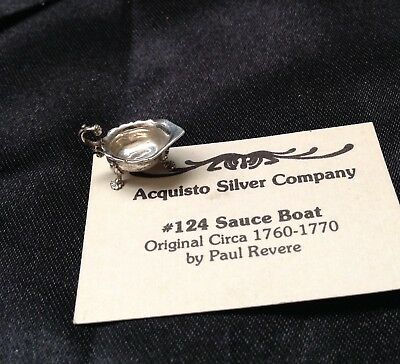 Simply Wonderful ACQUISTO sterling silver Miniature(1:12) SAUCE BOAT