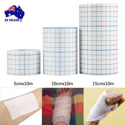 Non-woven Adhesive Wound Dressing Medical Fixation Tape Bandage 3 Sizes