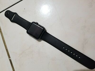 Apple Watch Sport 1st Gen 7000 Series 42mm Space Gray Aluminum with Black Band
