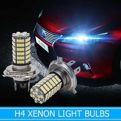 2X H4 BLANC Xénon Lampe 120 LED 3528 SMD Phare Salut / Lo Beam Ampoule Lampe