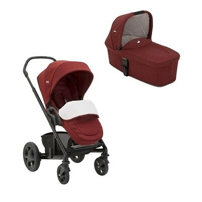 Joie Chrome DLX inkl. Wanne Cranberry 2017 Kombikinderwagen Kinderwagen Set 2in1
