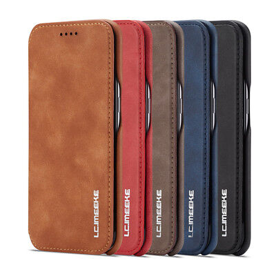 for Samsung S7 Edge Slim ShockProof Leather Flip Stand Case & Card Slot Cover