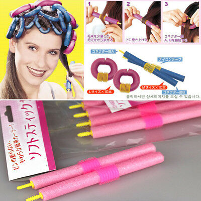 12Pcs Soft Foam Curler Makers Bendy Twist Curls Tool DIY Styling Hair Rollers