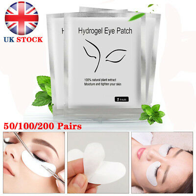 200Pair Salon Eyelash Lash Extension Under Eye Gel Pads Lint Free Eye Patches WW