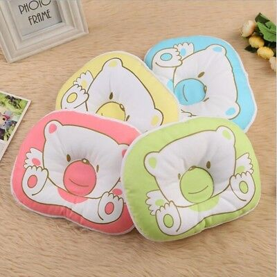 Baby Infant Newborn Bear Pillow Prevent Flat Head Neck Support Cotton Anti Roll