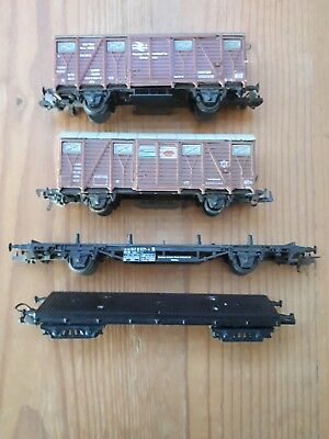 4 x Lima freight wagons. HO scale