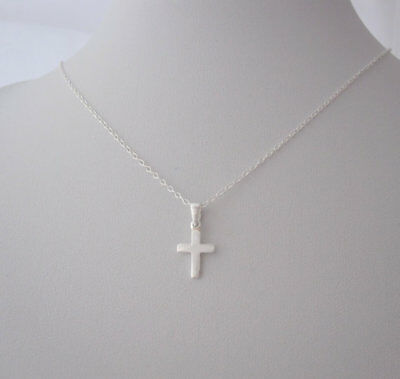925 sterling silver small CROSS pendant and chain necklace